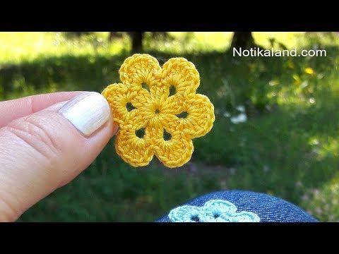 DIY Tutorial EASY Crochet Flower How to Crochet Flower – YouTube