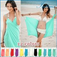 Wish   New Sexy Beach Cover up Swimwear Dress Fashion Bikini Wrap Dress Praia Cover up Dress