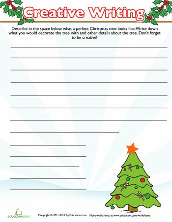 christmas tree writing prompt writing prompts and worksheets. Black Bedroom Furniture Sets. Home Design Ideas