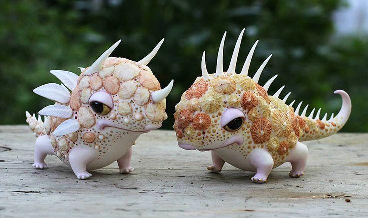 Criaturas de contos de fadas em porcelana