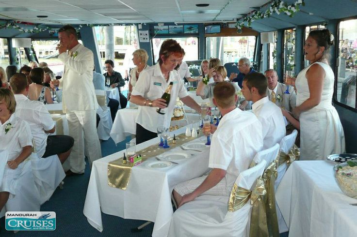 Comfortable and relaxed aboard your floating wedding reception. #wedding #reception #venue