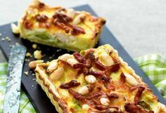Porretærte med kylling og bacon (Recipe in Danish)