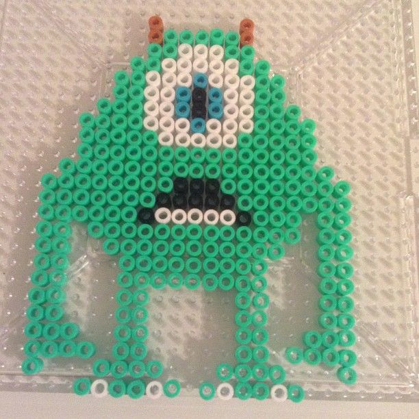 Mike Monsters Inc perler beads by perler_bead_ideas