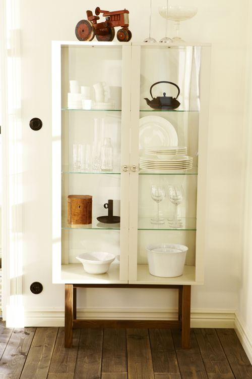 Again- nice things in the kitchen= show it! Here in a IKEA Stockholm cabinet
