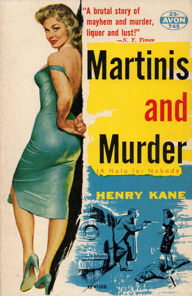 Retro Book Cover Art : Martinis and murder original title a halo for nobody