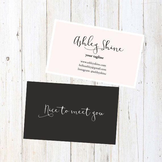 Custom business card design:Pink business card template010