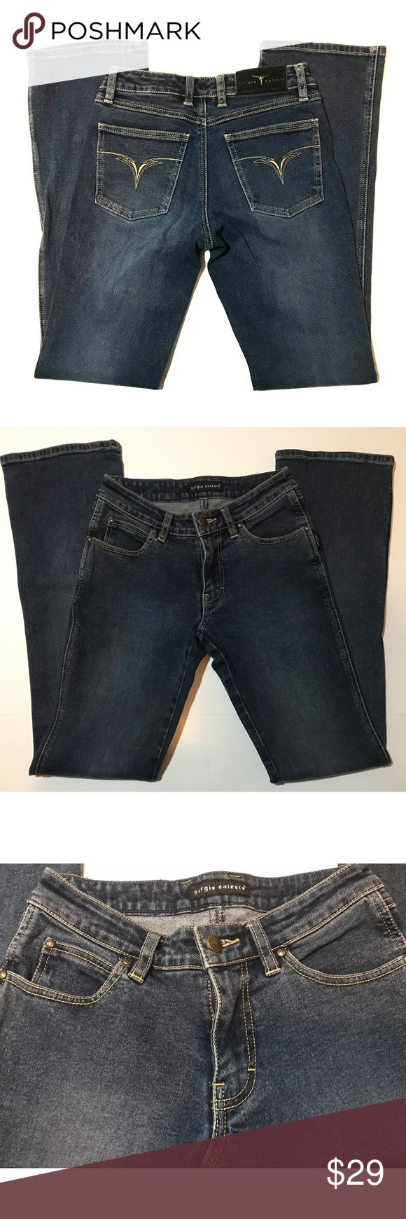 """90's Sergio Valente Designer Jeans Sz 26 x 32 EUC Sergio Valente Jeans were my FAVORITE in the 90's. They are made with Extreme Quality and very hard to find nowadays. I have meticulously kept these for all these years in hopes of fitting into them again and sadly it will never happen 😫. Embroidered Signature Pockets. Medium Wash. Boot cut. 6"""" leg opening. 8""""  low rise. 20"""" widest part of hip. Firm price, little negotiation. Sergio Valente Jeans Boot Cut"""