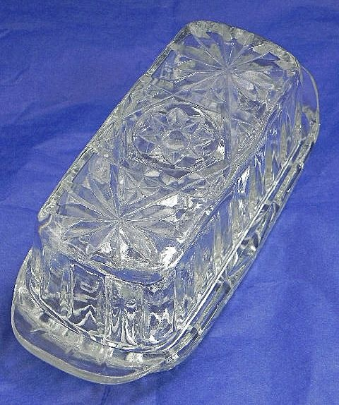 Anchor Hocking Prescut Butter Dish with Star Pattern ...