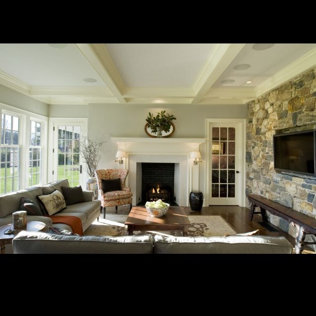 Possible Layout For Tv And Fireplace On Separate Walls
