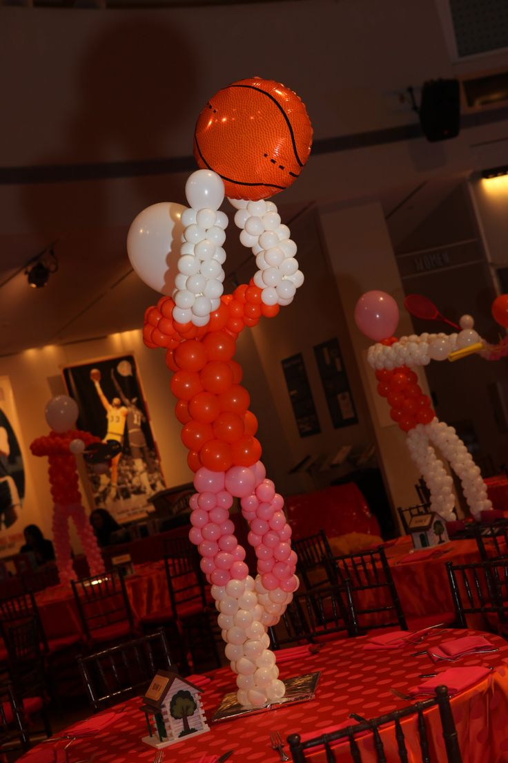 Where can you buy balloon arch kits in delaware - Custom Created Balloon Centerpieces Depicted The Bat Mitzvah Girl S Favorite Summer Camp Activities