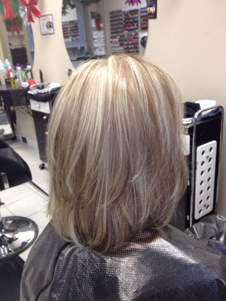 ash blond highlights with mocha blond lowlights