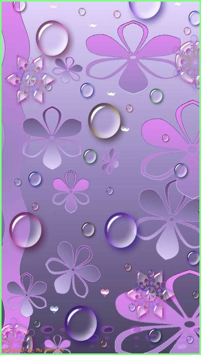 Wallpaper Iphone Aesthetic Purple Flowers White Background
