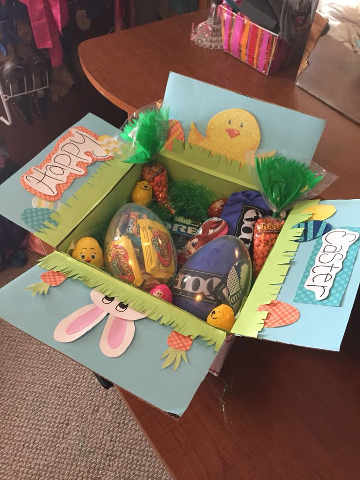 67 best cute ideas images on pinterest cards gift ideas and gifts easter basket care package for army boyfriend negle Choice Image