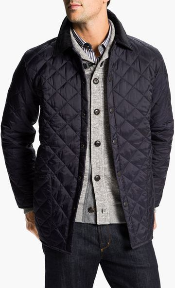 Men's Quilted Navy Jacket