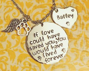 Pet Memorial Jewelry Loss of Pet Necklace by CharmedJewelryByCDay