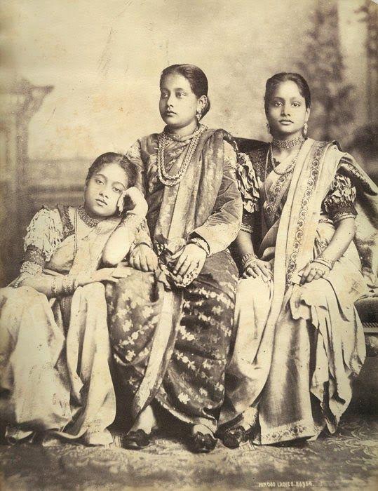 Three Hindu Ladies - c1880's