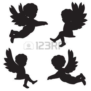 ange: ensemble de silhouettes de vecteur des anges