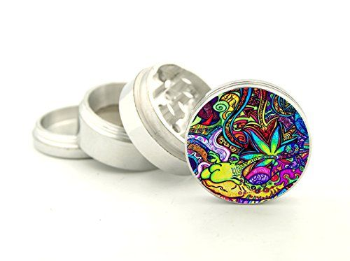 This is Brand New Aluminium Tobacco And Herb Grinder 4 Parts that has Fashion design covered with crystal clear doming....