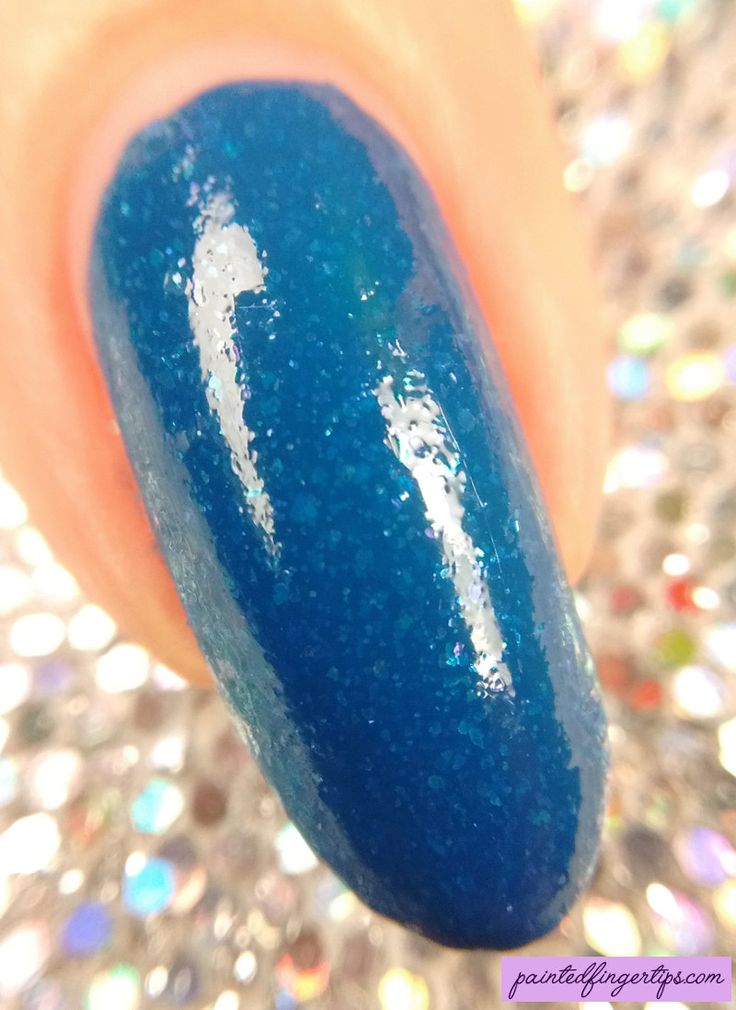 Painted Fingertips | Swatch - Blue-Eyed Girl Lacquer Chasing the Skyline macro