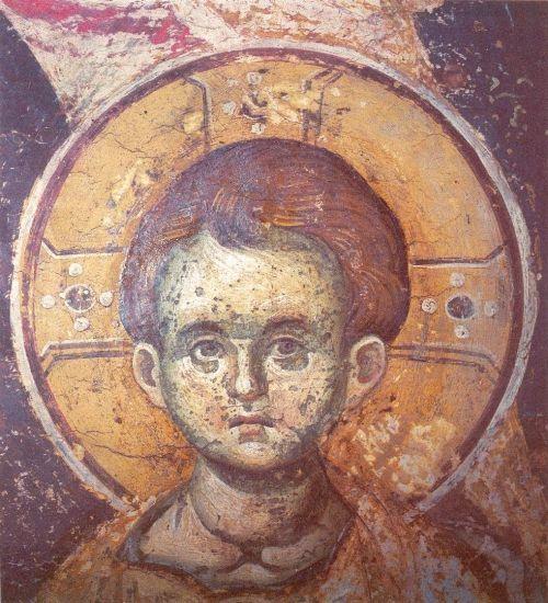 Christ. Protaton.  Фрески собора Протата в Карее, Афон XIII в. - Мануила Панселина. Часть 1 (80 фото)