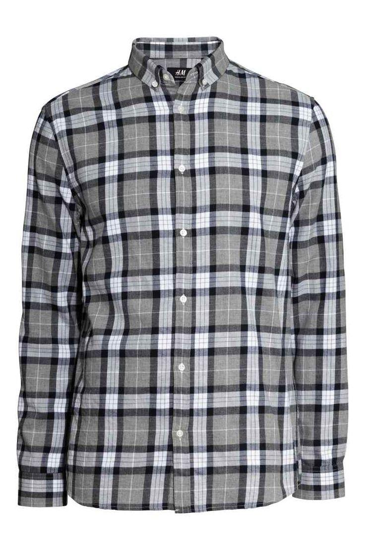 Camisa de cuadros de algodón | H&M