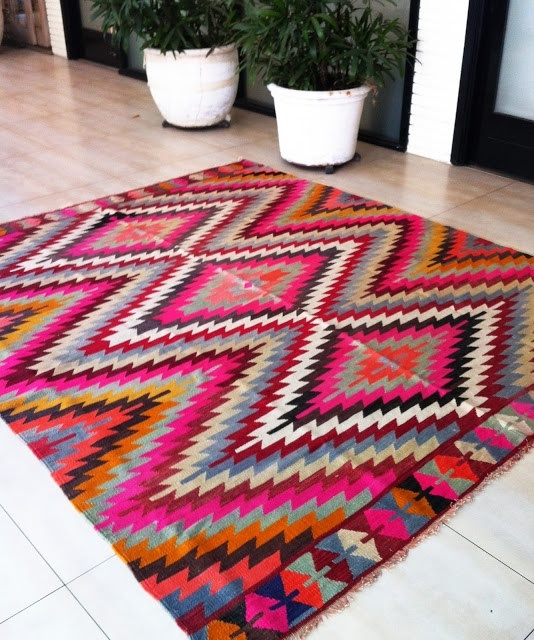 tribal print statement rug. were getting whether he wants it or not.