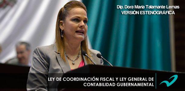 Ley de Coordinación Fiscal y Ley General de Contabilidad Gubernamental.
