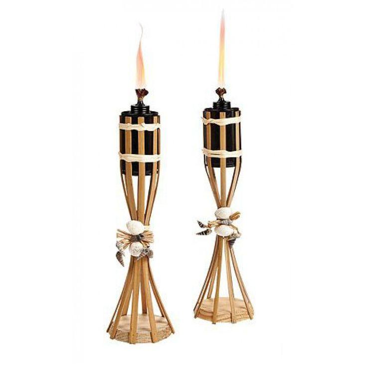 Backyard Bargain Tiki Torches : Tiki torches, Tabletop and Wedding supplies on Pinterest