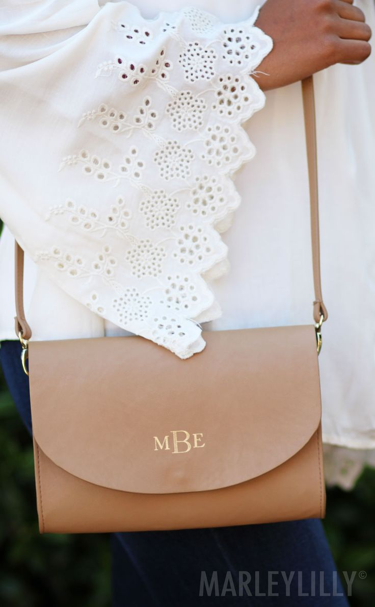 Hello beautiful! MUST HAVE Monogrammed Crossbody Clutch for EVERY outfit! Shop now at www.marleylilly.com!
