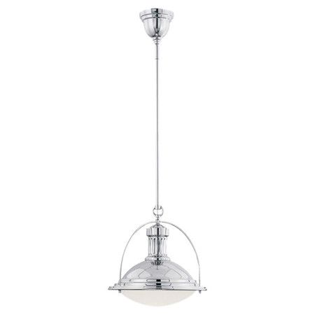 Equally at home in a nautical-themed space or casting a warm glow over industrial-inspired decor, this sleek metal pendant features a polished nickel finish ...