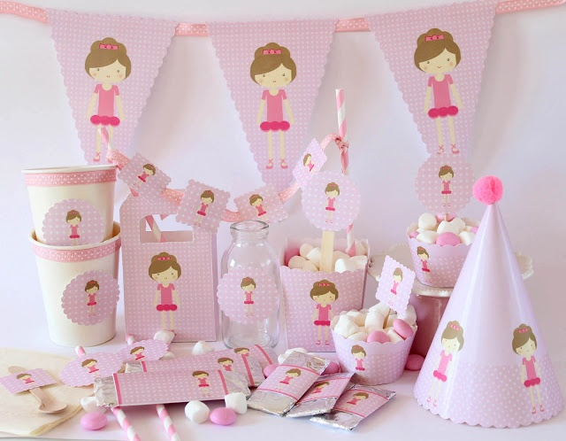 ballerina party FREE printable 40 best Ballerina