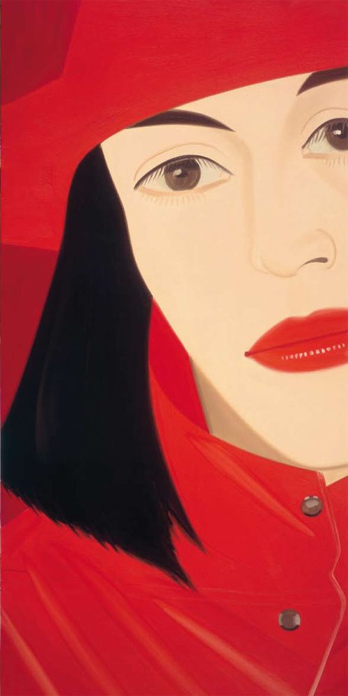 Alex Katz - (right) Red Coat 1982 Oil on canvas 244 x 122 cm