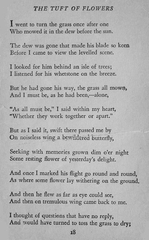 The Tuft of Flowers by Robert Frost