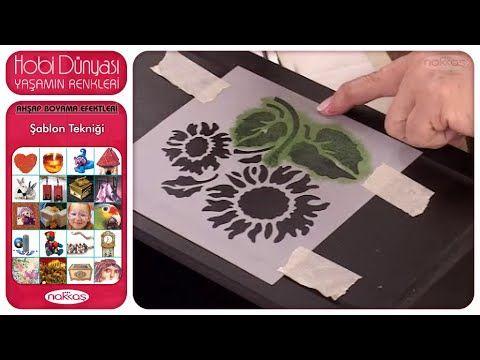 Ahşap Boyama Efektleri - Şablon Tekniği - YouTube