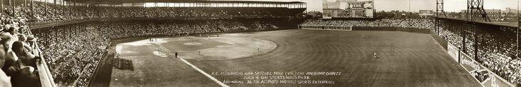 K.C. Monarchs (with Satchel Paige) vs. Chicago American Giants, July 4, 1941.