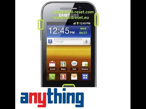 Factory Reset Samsung Galaxy Young S5360