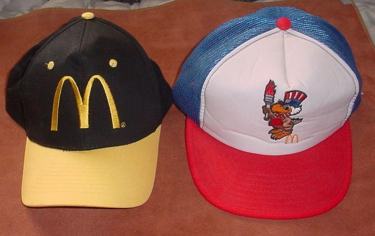 Vintage McDonalds Los Angeles 1984 Summer Olympics Mascot Snap Back Mesh Cap Hat  | eBay