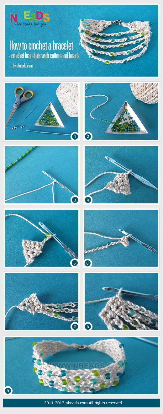 Christina Crochet Passion: how to crochet a bracelet