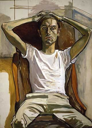 Alice Neel 1965 Hartley Oil on Canvas 50 x 36 inches /