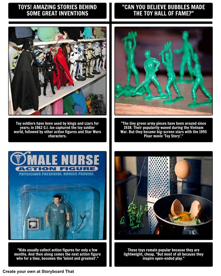 """In this activity, students will integrate what they have read in the """"Toy Soldiers"""" chapter in Toys! Amazing Stories Behind Some Great Inventions, and use the article, """"Can you believe bubbles made the Toy Hall of Fame?"""". These articles discuss toy soldiers and action figures, but have differing ideas about the toy."""