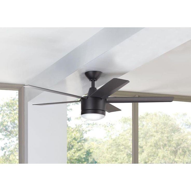 low voltage interior lighting kits%0A Home Decorators Collection Merwry    in  LED Indoor Matte Black Ceiling Fan