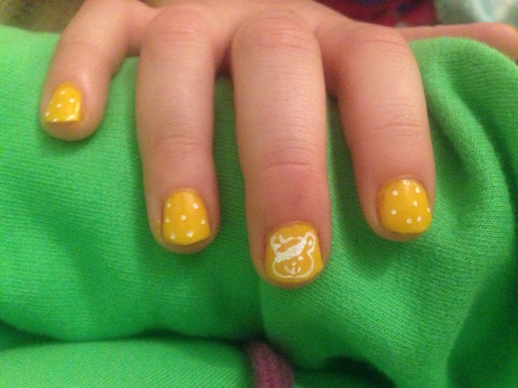 My nails for Children In Need Day (Aged 8yrs)