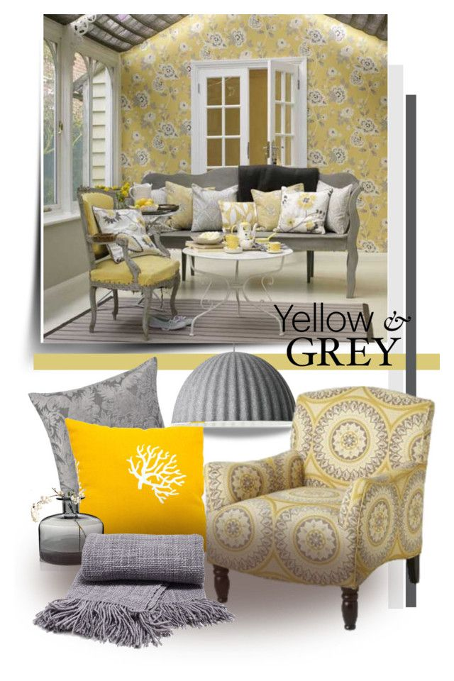 """""""Yellow and Grey"""" by betiboop8 ❤ liked on Polyvore featuring interior, interiors, interior design, home, home decor, interior decorating, Majestic Home Goods, Muuto, Pier 1 Imports and colorcombination"""