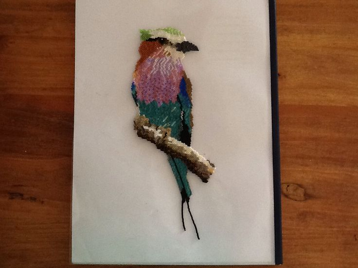King fisher bird done with mijuki delica beads