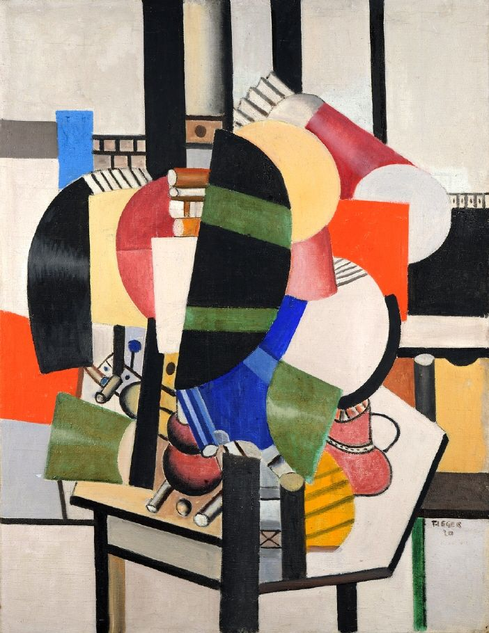 'Lady at her Dressing Table' (1920) by Fernand Léger