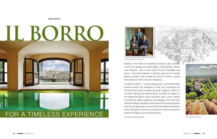 Il Borro on Design Magazine