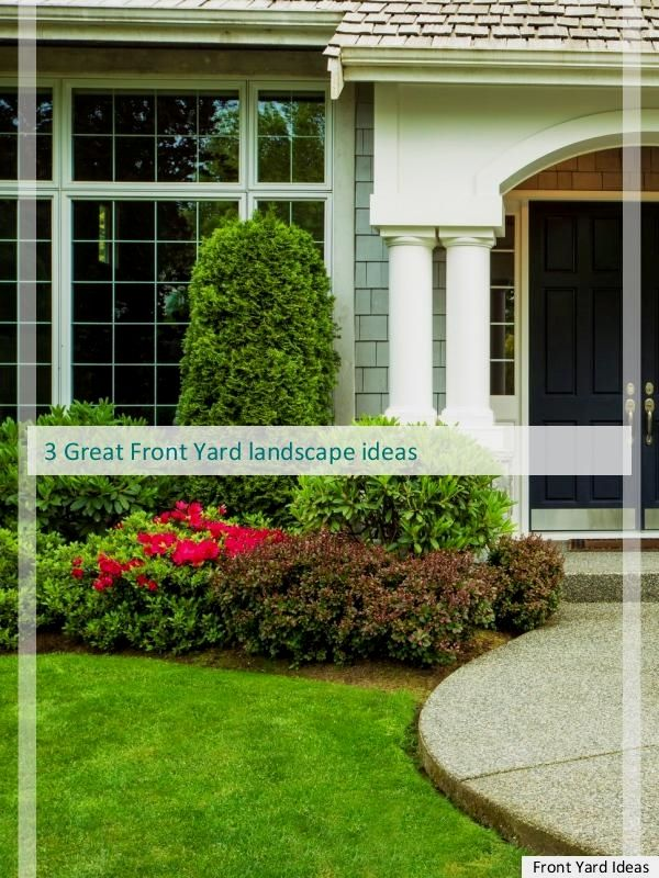 11 great front yard landscaping tips for a perfect house front rh pinterest com