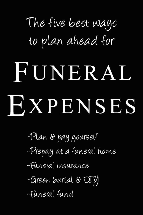 Five ways to plan for funeral expenses - final arrangements made simple.