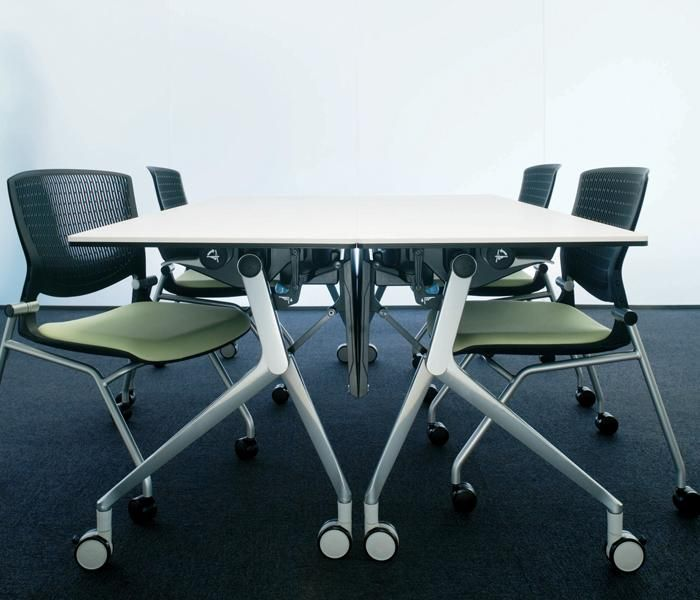 NT   UCI Table, by Okamura in Japan. Extremely versatile, designed to be easy to move and unfold. Horizontal nesting structure minimises the space required for storage. iF award winner. uci.com.au