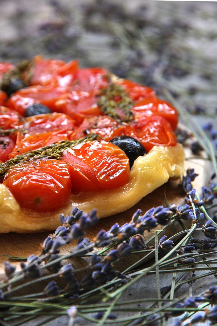 Tomaten-Lavendel Tarte Tatin